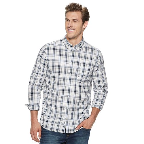 1a77f2858ed308 Big & Tall SONOMA Goods for Life™ Flexwear Poplin Button-Down Shirt