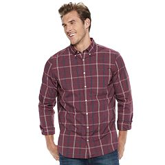 Big & Tall SONOMA Goods for Life™ Flexwear Slim-Fit Poplin Button-Down Shirt