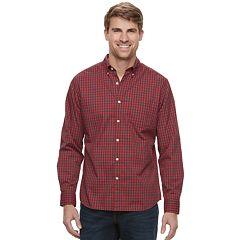 Big & Tall SONOMA Goods for Life™ Flexwear Slim-Fit Poplin Button-Down Shirt