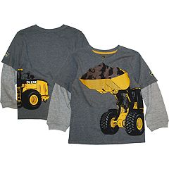 Boys 4-7 John Deere Mock Layer Front & Back Graphic Tee