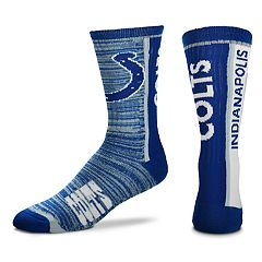 Men's For Bare Feet Indianapolis Colts Bar Stripe Crew Socks