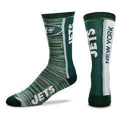 Men's For Bare Feet New York Jets Bar Stripe Crew Socks