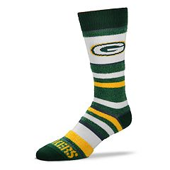 Women's For Bare Feet For Bare Feet Green Bay Packers Crew Cut Socks