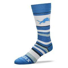 Women's For Bare Feet For Bare Feet Detroit Lions Crew Cut Socks