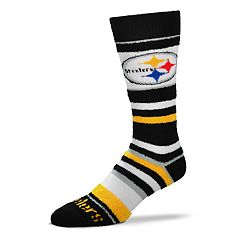 Women's For Bare Feet For Bare Feet Pittsburgh Steelers Crew Cut Socks