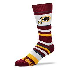 Women's For Bare Feet For Bare Feet Washington Redskins Crew Cut Socks