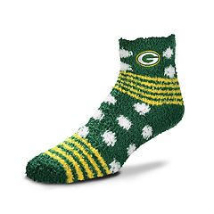 Women's For Bare Feet For Bare Feet Green Bay Packers Plush Ankle Socks