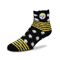 Women's For Bare Feet For Bare Feet Pittsburgh Steelers Plush Ankle Socks
