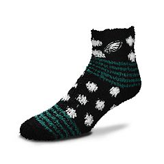 Women's For Bare Feet For Bare Feet Philadelphia Eagles Plush Ankle Socks
