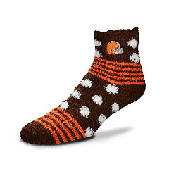 Women's For Bare Feet For Bare Feet Cleveland Browns Plush Ankle Socks