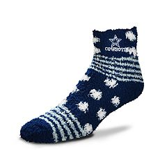Women's For Bare Feet For Bare Feet Dallas Cowboys Plush Ankle Socks