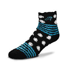 Women's For Bare Feet For Bare Feet Carolina Panthers Plush Ankle Socks
