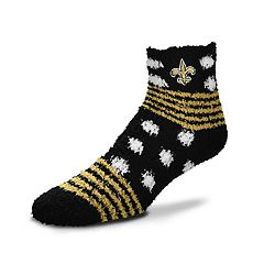 Women's For Bare Feet For Bare Feet New Orleans Saints Plush Ankle Socks