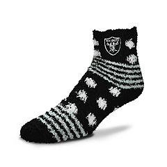 Women's For Bare Feet For Bare Feet Oakland Raiders Plush Ankle Socks