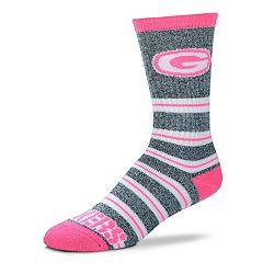 Women's For Bare Feet For Bare Feet Green Bay Packers Crew Cut Socks
