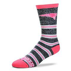 Women's For Bare Feet For Bare Feet New EnglandPatriots Crew Cut Socks