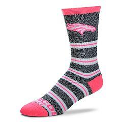 Women's For Bare Feet For Bare Feet Denver Broncos Crew Cut Socks
