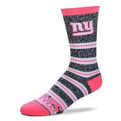 Women's For Bare Feet For Bare Feet New York Giants Crew Cut Socks
