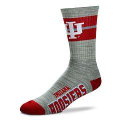 Adult For Bare Feet Indiana Hoosiers Deuce Band Crew Socks