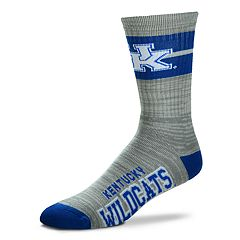 Adult For Bare Feet Kentucky Wildcats Deuce Band Crew Socks