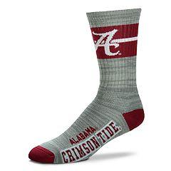 Adult For Bare Feet Alabama Crimson Tide Deuce Band Crew Socks