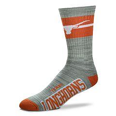 Adult For Bare Feet Texas Longhorns Deuce Band Crew Socks