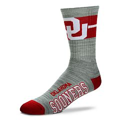 Adult For Bare Feet Oklahoma Sooners Deuce Band Crew Socks