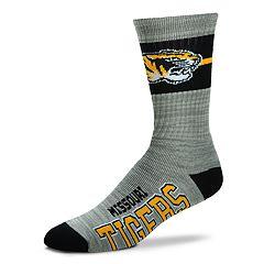 Adult For Bare Feet Missouri Tigers Deuce Band Crew Socks