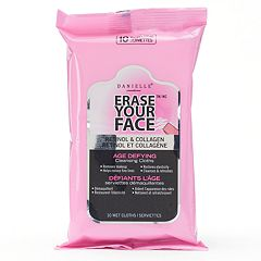 Danielle Creations Erase Your Face Retinol & Collagen Age Defying Cleansing Cloths - Travel Size