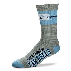 Men's For Bare Feet North Carolina Tar Heels Crew Cut Socks