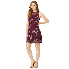 Juniors' Wallflower Floral Shift Dress