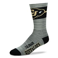 Adult For Bare Feet Colorado Buffaloes Deuce Band Crew Socks