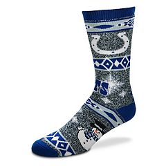 Adult Indianapolis Colts Holiday Motif Crew Socks