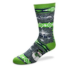Adult Seattle Seahawks Holiday Motif Crew Socks