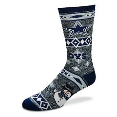 Adult Dallas Cowboys Holiday Motif Crew Socks