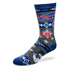 Adult Buffalo Bills Holiday Motif Crew Socks