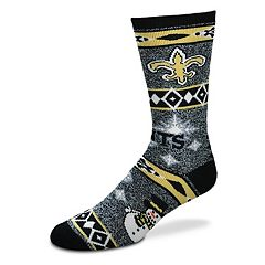 Adult New Orleans Saints Holiday Motif Crew Socks