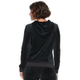 Women's Juicy Couture Ultrasoft Velour Hooded Jacket