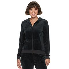 Women's Juicy Couture Ultrasoft Velour Hooded Jacket