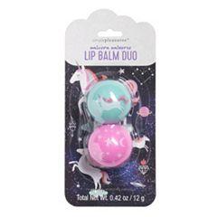 Simple Pleasures Unicorn Universe Lip Balm Duo