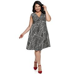 Plus Size Suite 7 Abstract Knot Dress