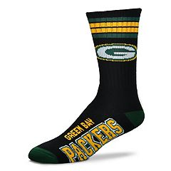 Men's For Bare Feet Green Bay Packers Crew Socks