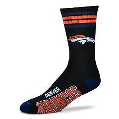 Men's For Bare Feet Denver Broncos Crew Socks