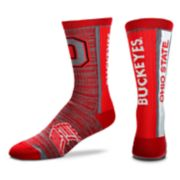 Adult For Bare Feet Ohio State Buckeyes Bar Stripe Crew Socks