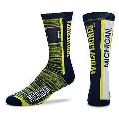 Adult For Bare Feet Michigan Wolverines Bar Stripe Crew Socks