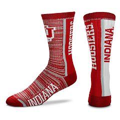 Adult For Bare Feet Indiana Hoosiers Bar Stripe Crew Socks