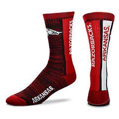Adult For Bare Feet Arkansas Razorbacks Bar Stripe Crew Socks