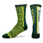 Adult For Bare Feet Oregon Ducks Bar Stripe Crew Socks
