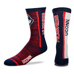 Men's For Bare Feet UConn Huskies Crew Cut Socks