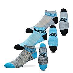 Men's For Bare Feet Carolina Panthers 3-Pack Low-Cut Socks